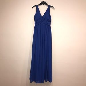 Bill Levkoff Royal Blue Bridesmaid Maxi Dress